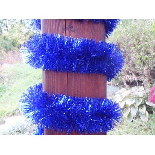 Vianočná girlanda - modrá -...